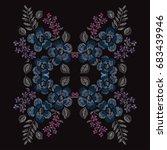 elegant hand drawn decoration... | Shutterstock .eps vector #683439946