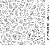 vector seamless pattern with... | Shutterstock .eps vector #683441773