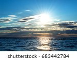 beautiful sunset in jurmala ... | Shutterstock . vector #683442784