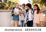 group of university students... | Shutterstock . vector #683443138