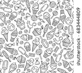 vector seamless pattern with... | Shutterstock .eps vector #683444809