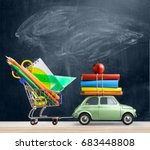 back to school sale background. ...   Shutterstock . vector #683448808