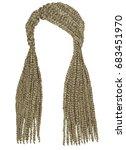trendy  long hair cornrows... | Shutterstock .eps vector #683451970