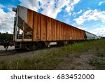 boxcars in waiting | Shutterstock . vector #683452000
