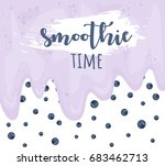 smoothie time. blueberry yogurt ... | Shutterstock .eps vector #683462713