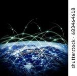 earth from space. best internet ... | Shutterstock . vector #683464618