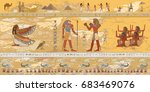 gods and pharaohs of egypt.... | Shutterstock .eps vector #683469076