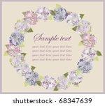 decorative framework. hydrangea. | Shutterstock .eps vector #68347639