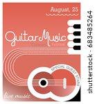 music festival poster template...   Shutterstock .eps vector #683485264