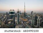 dubai skyscrapers. dubai... | Shutterstock . vector #683490100