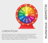 fortune spinning wheel in flat...   Shutterstock .eps vector #683492734