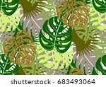 seamless pattern with trendy... | Shutterstock .eps vector #683493064