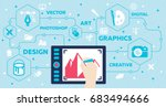 graphic design concept | Shutterstock .eps vector #683494666