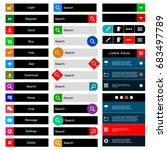 ecommerce web design elements... | Shutterstock .eps vector #683497789