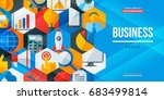 business forum creative banner. ... | Shutterstock .eps vector #683499814
