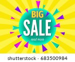 big  sale banner on  bright... | Shutterstock .eps vector #683500984