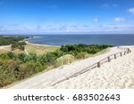 nida   curonian spit and... | Shutterstock . vector #683502643