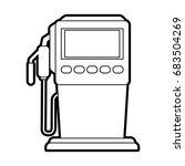 gasoline fuel machine | Shutterstock .eps vector #683504269