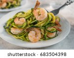 skinny shrimp scampi with... | Shutterstock . vector #683504398