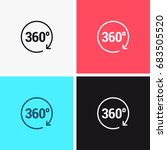 360 vector icons | Shutterstock .eps vector #683505520
