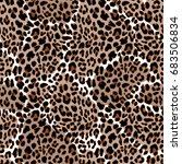 leopard or jaguar seamless... | Shutterstock .eps vector #683506834