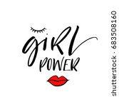 girl power phrase. motivational ... | Shutterstock .eps vector #683508160