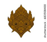 balinese mask | Shutterstock .eps vector #683508400