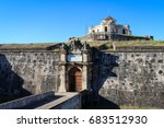 front of the fort of gra  a.... | Shutterstock . vector #683512930