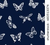 vector pattern with silhouettes ... | Shutterstock .eps vector #683513374
