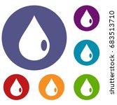 drop icons set | Shutterstock .eps vector #683513710