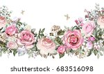 isolated seamless border with... | Shutterstock . vector #683516098