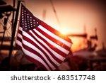 Flag United States America Flutters - Fine Art prints