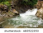 fast mountain river with... | Shutterstock . vector #683522353