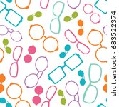 vector colorful glasses... | Shutterstock .eps vector #683522374