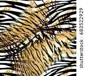animal print  leopard texture... | Shutterstock . vector #683522929