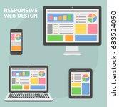 responsive web design flat style