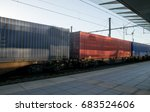 freight train with cargo... | Shutterstock . vector #683524606