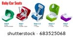 isometric baby car seat group 0 ... | Shutterstock .eps vector #683525068