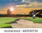 golf equipment and golf bag ...   Shutterstock . vector #683530720