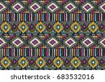 fabric pattern. tribal ornament.... | Shutterstock .eps vector #683532016