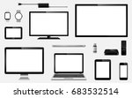set of realistic digital devices | Shutterstock . vector #683532514