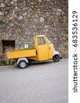 apecar or three wheels small... | Shutterstock . vector #683536129