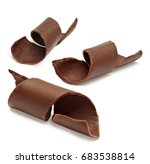 chocolate curls isolated on... | Shutterstock . vector #683538814