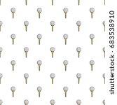 golf ball on a yellow tee... | Shutterstock .eps vector #683538910