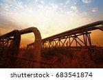 oil pipeline  the oil industry...   Shutterstock . vector #683541874