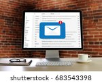 mail communication connection...   Shutterstock . vector #683543398