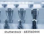 quick release coupling... | Shutterstock . vector #683560444