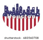houston city and usa flag    Shutterstock .eps vector #683560708