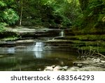 water cascading into the giants ... | Shutterstock . vector #683564293