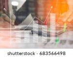 businessman check seriously... | Shutterstock . vector #683566498